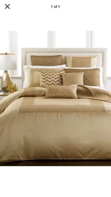Hotel Collection Mosaic Gold Bronze Queen Duvet Cover W 2 Shams