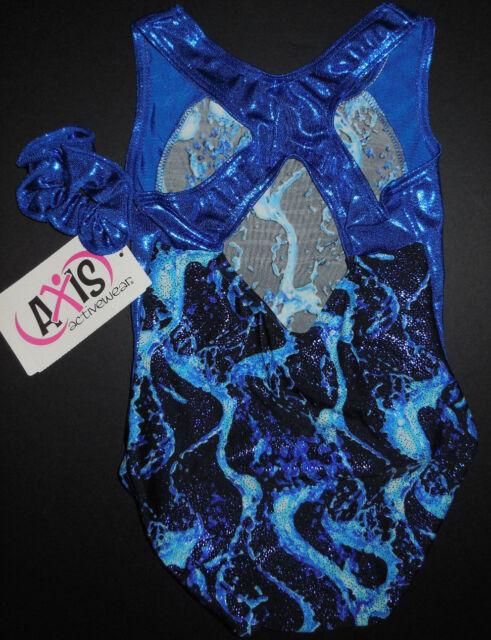 Glittered Foil Multi Color Leotard Gymnastic Keyhole Front Adult Child Szes NWT