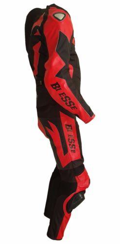 Tuta Moto Pelle e Tessuto Racing Sport 2Pezzi Divisibile Giacca Pantalone BIESSE