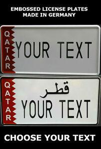 Details About Qatar Arab Arabic Uae U A E Us Usa License Plate Number Plate Custom Alu