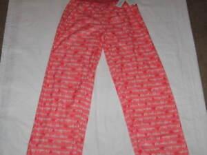 d34eafc56c0e Girls L 10 12 CALVIN KLEIN Logo Orange Peach Sleep Pajama Lounge Pants NWT