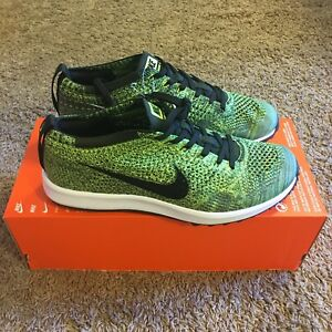 0e7e029d94cc Nike Flyknit Racer G 9 Golf Shoes 909756 700 Limited Sample Green ...