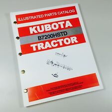 Kubota B7200hstd Tractor Parts Assembly Manual Catalog Exploded Views Numbers