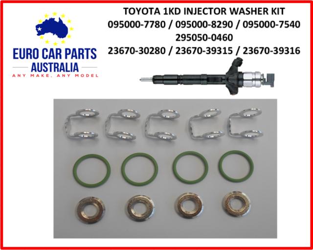 Injector Washer Seal Kit Toyota Hilux KUN26 Prado Hiace D4D 1KD-FTV 3.0L 2KD-FTV