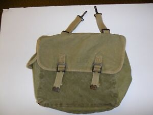 Details about IR43B-2 WW2 US Army Musette Bag Canvas OD M-1938 British  broad Arrow 1944 Field