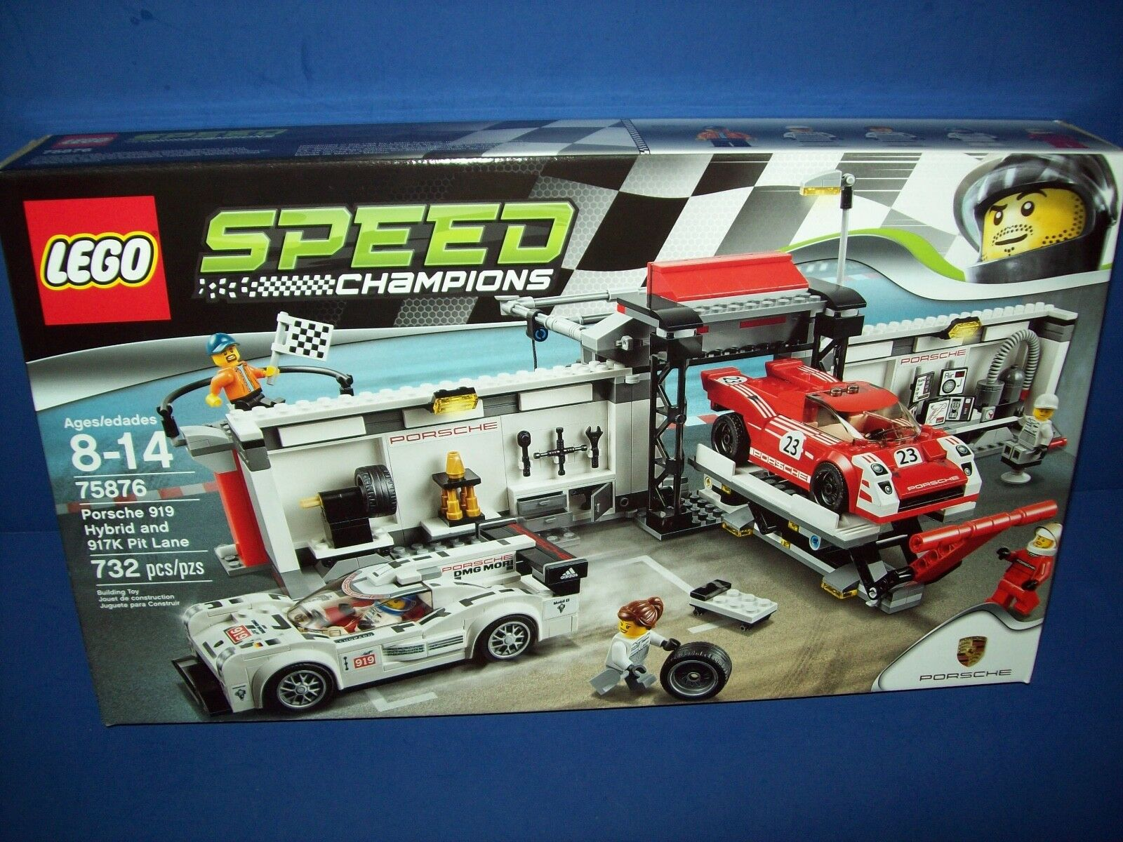 Lego 75876 Porsche 919 Hybrid und 917 Pit Lane, 732 St. , Versiegelt Neu