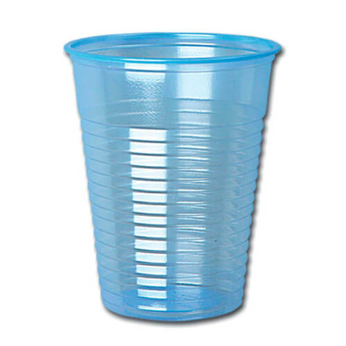 Water Cups Plastic Non Vending for Cold Drinks 7oz 200ml Blue Pack 1000