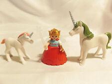 Playmobil Fairy Princess Girl w/ Big Skirt, Crown, Wings, Unicorn, Colt, Castle
