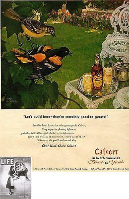 Zielsetzung Calvert Distillers Corp Ny Blended Whiskies Us-advertising 1947