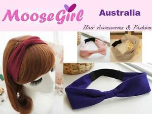 Image is loading Thick-Fabric-Knot-Turban-Stretch-Headband-Knotted-Elastic- 7974b6f82e6