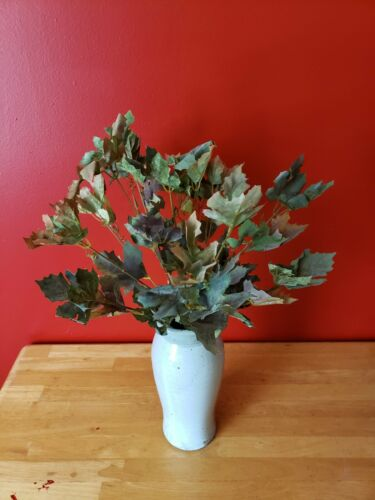 """19/"""" Frosted Maple Ivy Bush X 14 wired bendable stems"""