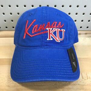 University of Kansas Jayhawks KU NCAA Adidas College Women's Hat NWT Blue Cap