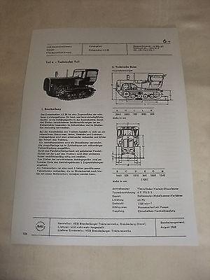 Reklame Ddr Werbung Reklame Prospekt Datenblatt Kettentraktor Ks 30 Veb Brandenburg 1968 Bequem Zu Kochen