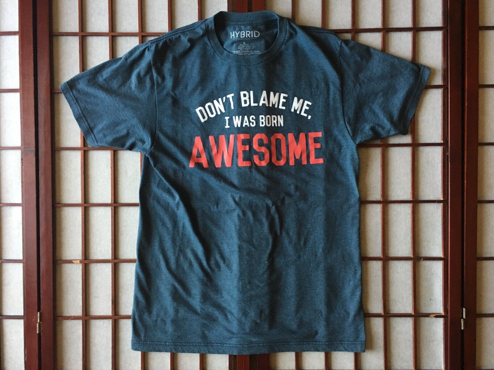 Don't Blame Me I Was Born Awesome Graphic Funny B… - image 1