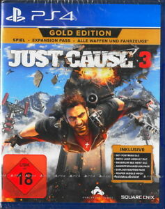 Just-Cause-3-ORO-Edition-ps4-Playstation-4-NUOVO-amp-OVP-versione-tedesca