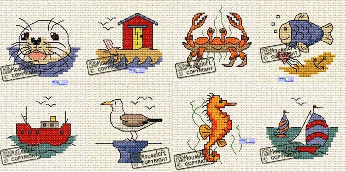 Mouseloft By The Seaside Cross Stitch Kit Beach Hut
