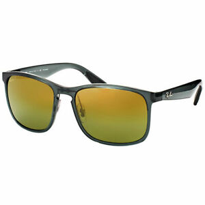 e51a8db4b7 Ray-Ban Chromance RB 4264 876 6O Shiny Grey Sunglasses Gold Flash ...
