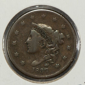 1837 1c Coronet Head Large Cent SKU-Y2557