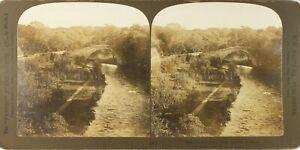 UK Scozia Ayrshire Il Old Bridge Of Doon Foto Stereo Vintage Analogica PL62L6
