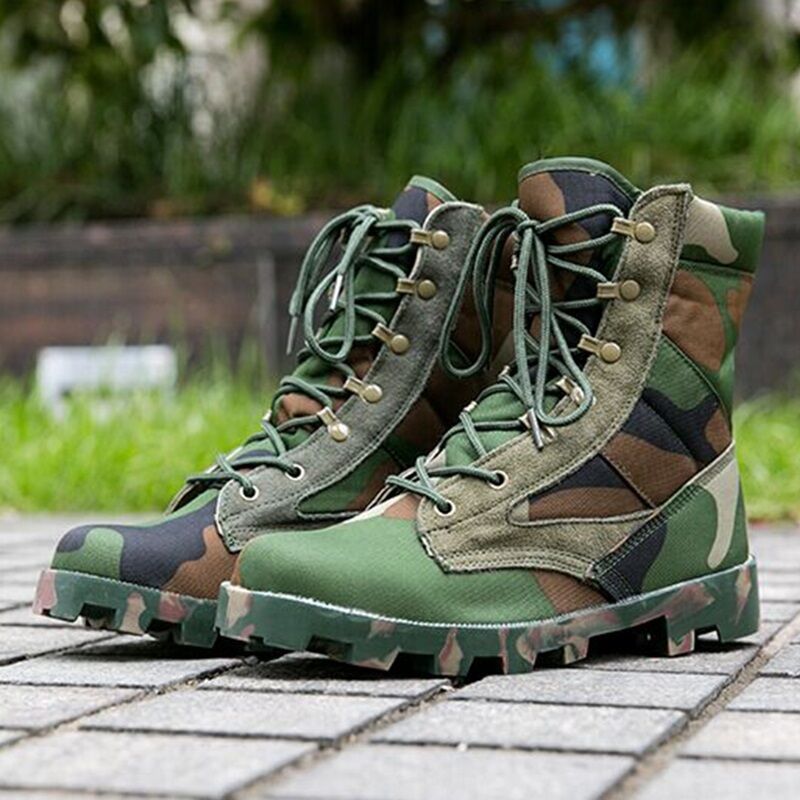 Outdoor Uomo pivot tattica contro le escursioni nel deserto le scarpe con i lacci degli stivali  sbox1