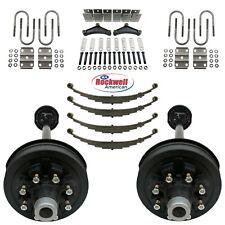 Tandem 7000 Lb Electric Brake Trailer Axle Kit 14k 8 Lug 65 Bolt Pattern