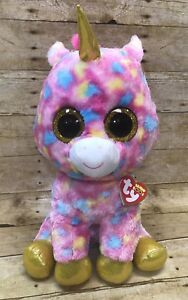 3453d98acc8 Ty Beanie Boos FANTASIA Multi Color Unicorn Plush Toy Large Size 16 ...