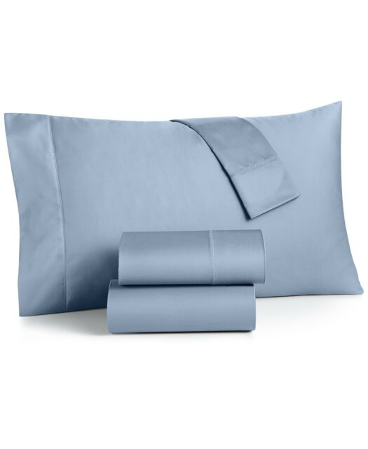 Charter Club Queen Fitted Sheet & Pillowcases Set Damask Solid 550 TC T94131
