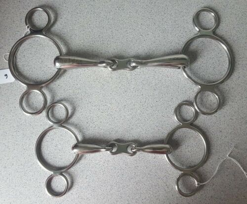 2 RING CONTINENTAL DUTCH GAG WITH FRENCH LINK 4 TO 6 INCH