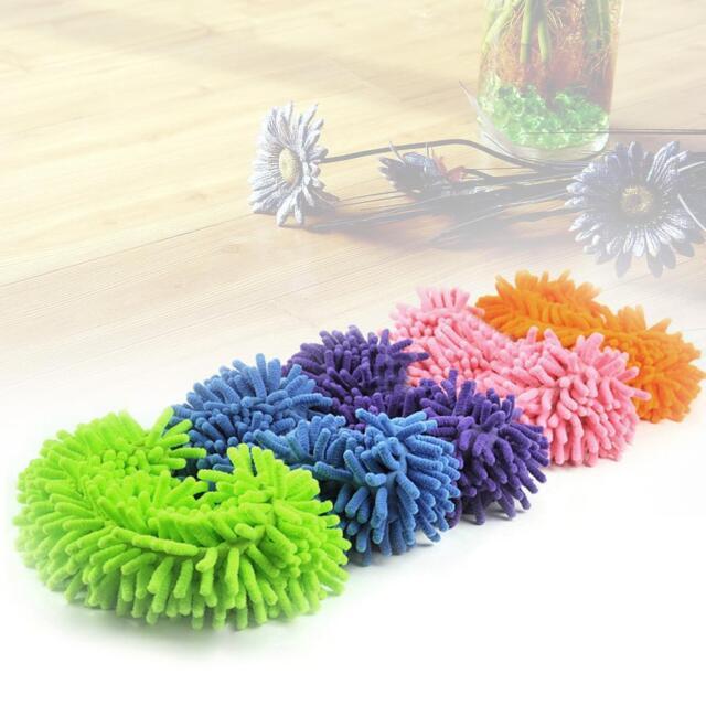 1x Fashion Kitchen Mop Shoes Sets Dust Floor Slipper Cover House Clean Cover  MT