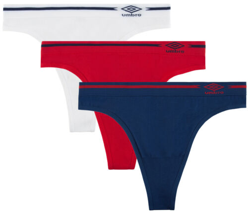 Umbro Women/'s Seamless Thong Panties 3 Pack