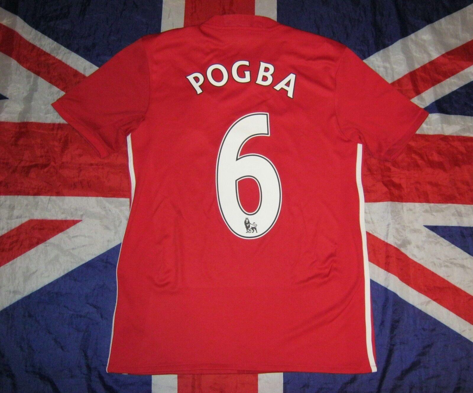 044b14655d2 Manchester United Home Football Shirt 2016 - 2017 Pogba S Jersey Paul  nucbye3195-Men