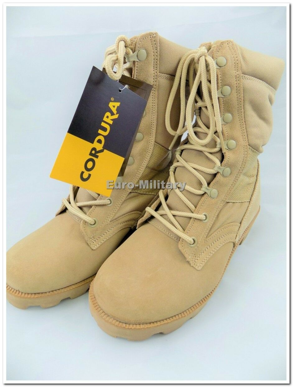 US ARMY  Jungle Desert Combat Patrol  ARMY Uomo Tactical Stiefel Suede Leder Khaki New 20f6a5