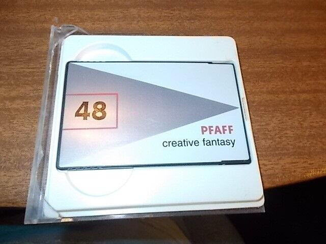 pfaff creative fantasy embroidery card 48 pattern combo