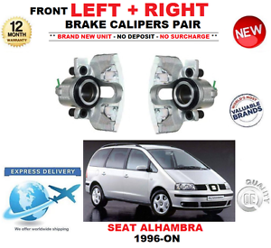 FOR SEAT ALHAMBRA 1996-ON FRONT LEFT + RIGHT BRAKE CALIPERS SET 1.8 1.9 2.0 2.8