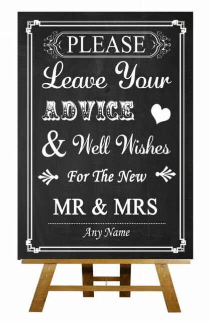 Chalkboard Guest Book Wish Tree Personalised Wedding Sign / Poster