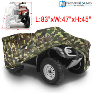 Xl 190t Camouflage Waterproof Atv Cover For Polaris Honda Yamaha Suzuki Ebay