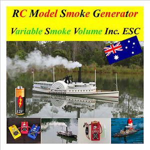RC-Model-Boat-12-Volt-Smoke-Generator-Variable-Volume-ESC-included-amp-fluid-V4-S2