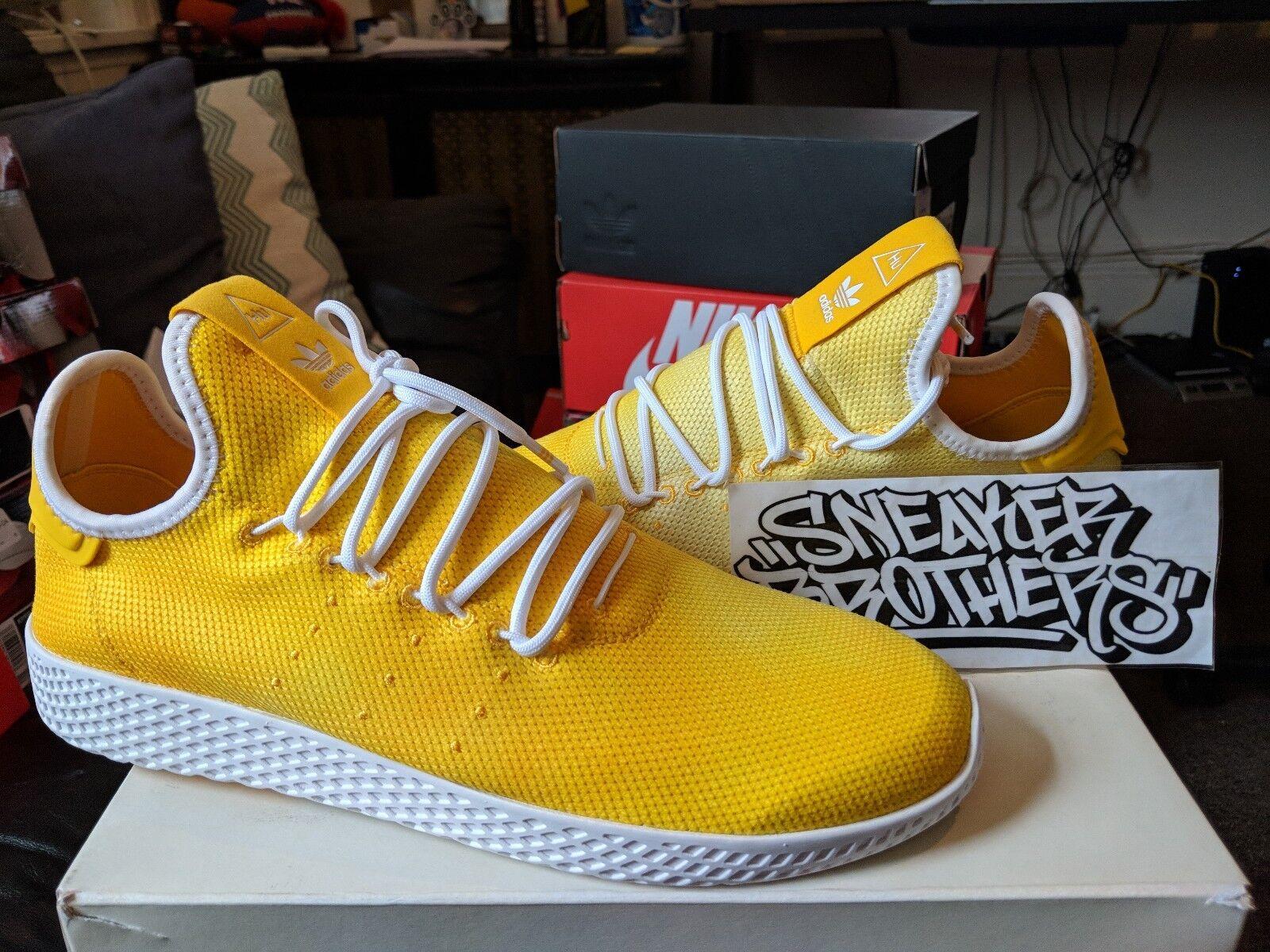 Adidas Originals PW Tennis Hu Holi Pharrell Williams Bright Yellow White DA9617