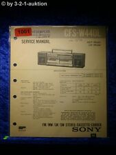 Sony Service Manual CFS W440L Cassette Recorder (#1001)