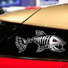 1Pair 40*20cm Fish Skeleton Decals Car Sticker Fishing Boat Canoe Kayak Graphic