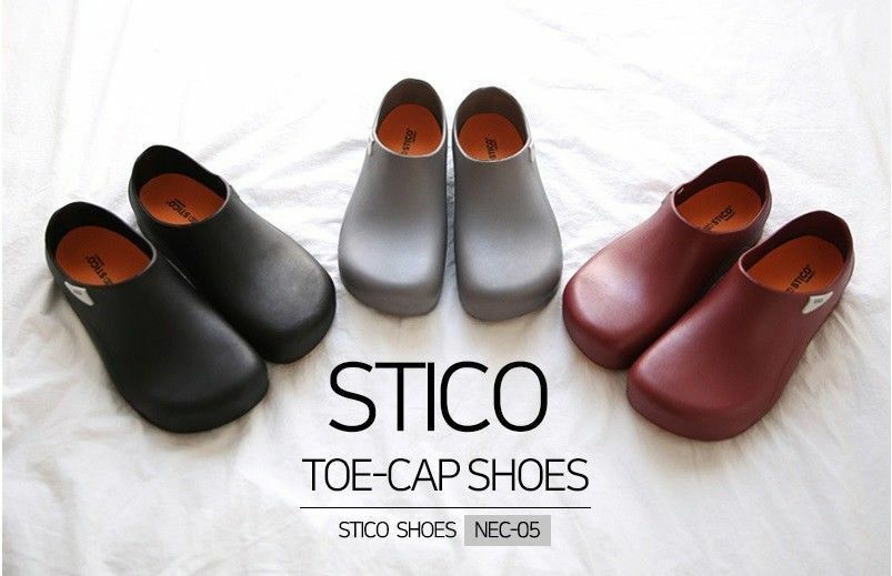 online al miglior prezzo STICO Uomo nero Non-Slip Safety Chef Chef Chef Kitchen Toe-Cap scarpe EVA KOREA_V  scelta migliore