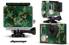 Skin Stickers for GoPro Hero 3+ Camera & Case Decal HERO3+ Go Pro DIGI CAMO GRN