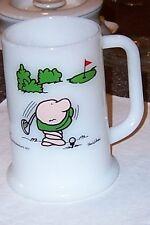 ZIGGY WORLD'S WORST GOLFER WHITE GLASS MUG/STEIN 1977,13TH HOLE FRUSTRATION