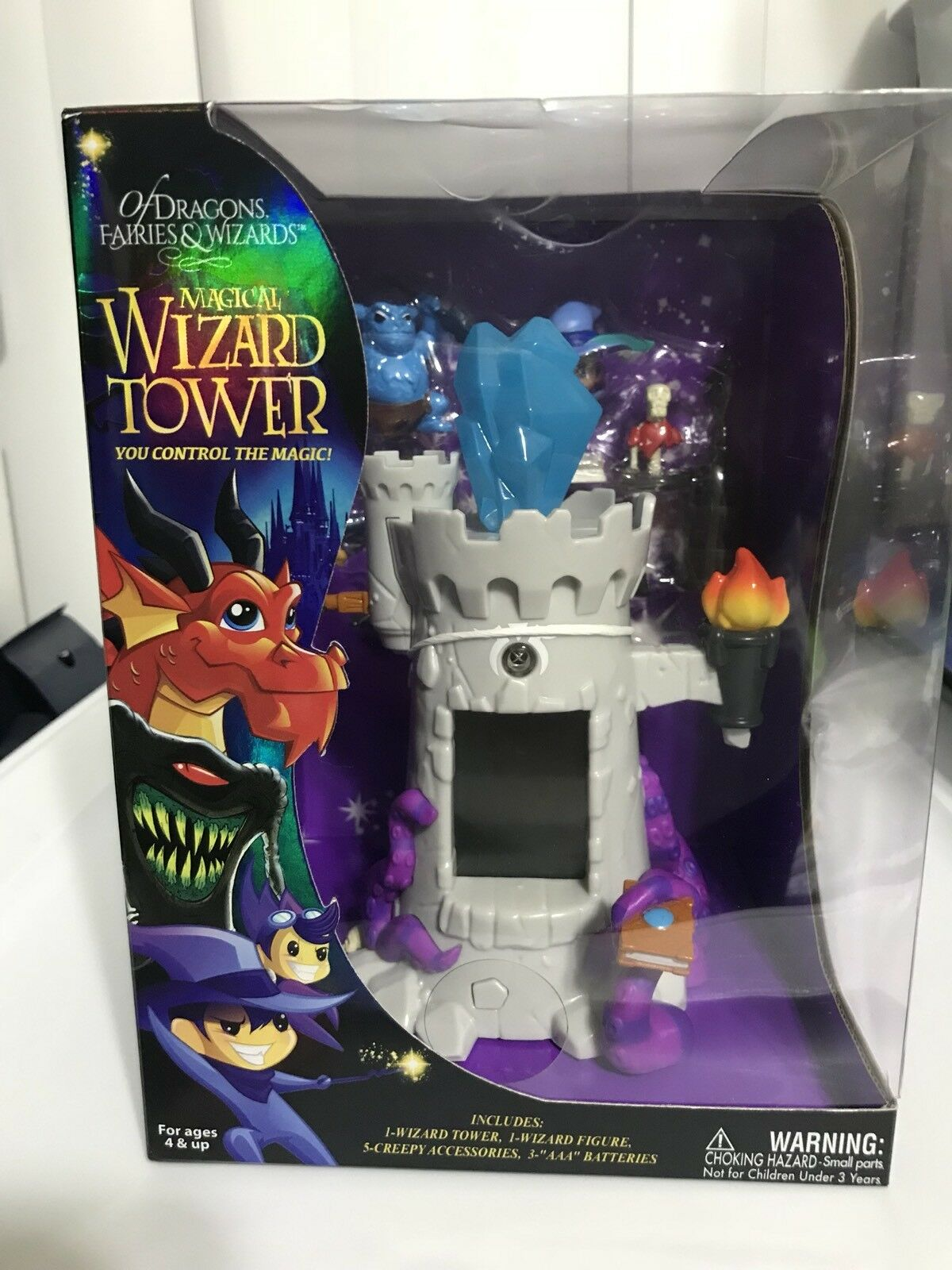 Of Dragons, Faries & Wizards Magical Wizards Grau Tower Playset New