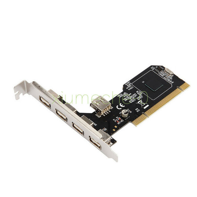 5 Port USB 2.0 High Speed PCI Hub Card Controller Adaptor Module 480Mbps