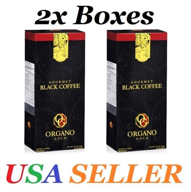 2 Boxes ORGANO GOLD GOURMET BLACK COFFEE- Expire on 06/2020