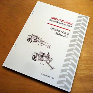 New Holland 68 Baler Manual