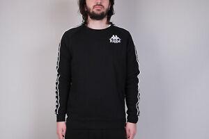 tira Cuna Ecología  Kappa Hassan Sweatshirt Crewneck Sweater Pullover black fila ellesse NEU! M  | eBay