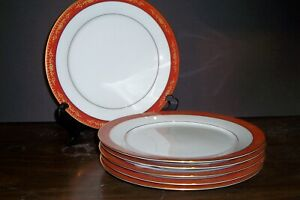 LOT-OF-6-NORITAKE-GOLDHILL-DINNER-PLATES-10-5-8-034-FREE-U-S-SHIPPING
