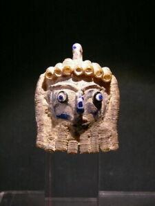 Bird bead Phoenician glass Vintage pendant